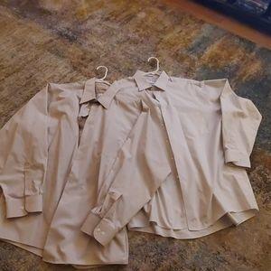 Men's Van Heusen Cream Dress Shirts